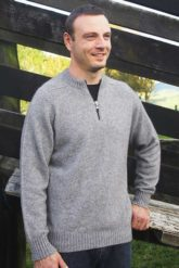 Possum Merino Men's 9813 Crew Neck 1/4 Zip Jumper