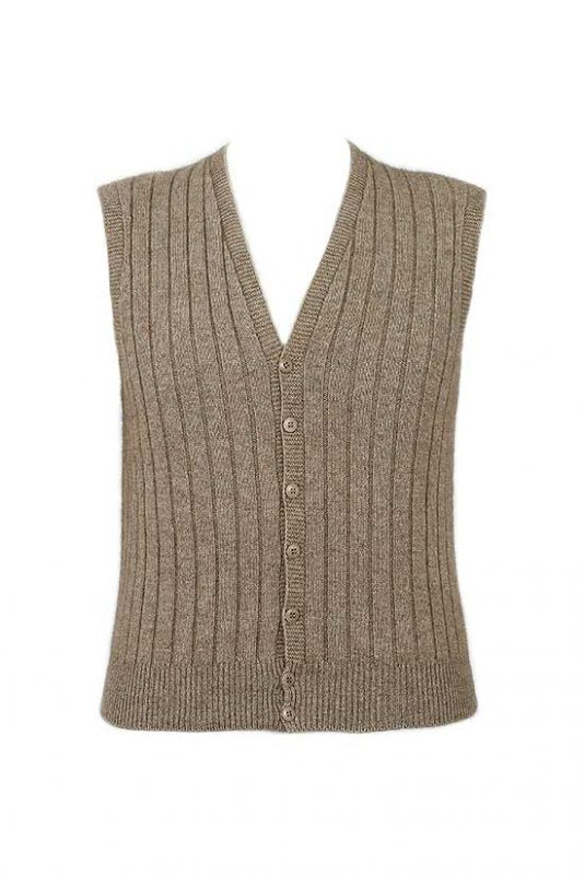 Possum Merino Men's 9829 Rib Button Vest