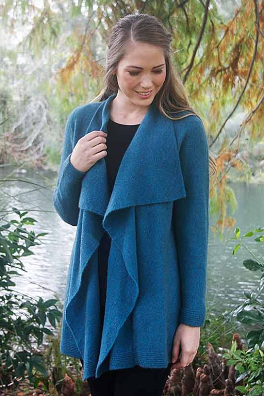 Possum Merino Ladies 9844 Waterfall Jacket
