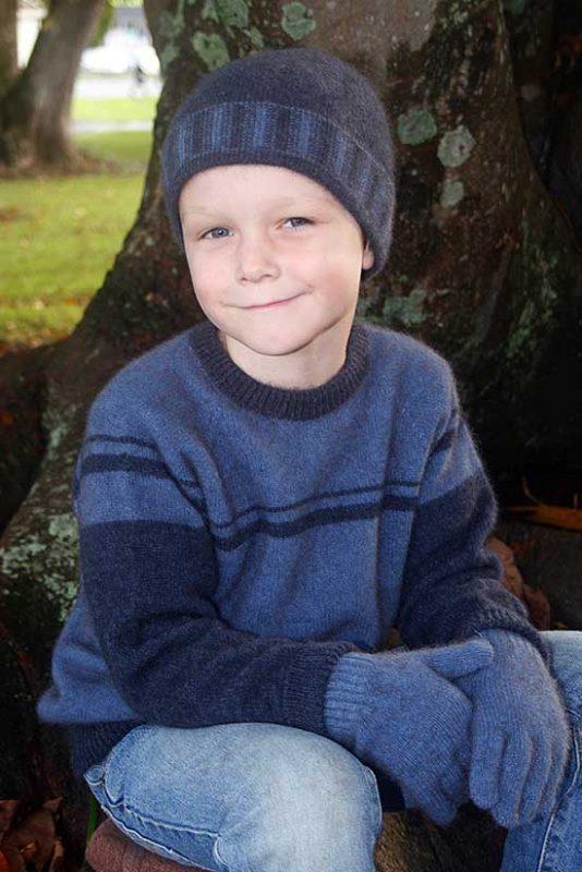 Possum Merino Child's CK700 Boy's Striped Jumper