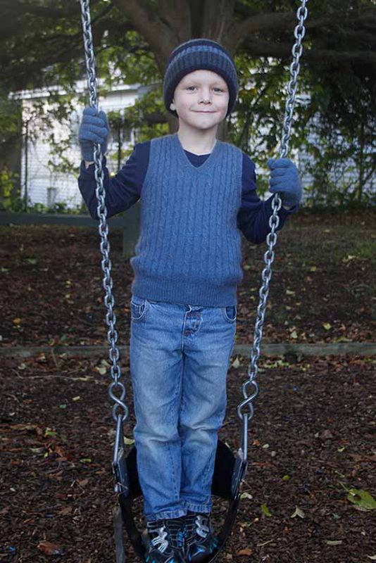 Possum Merino Child's CK702 Boy's Cable Vest