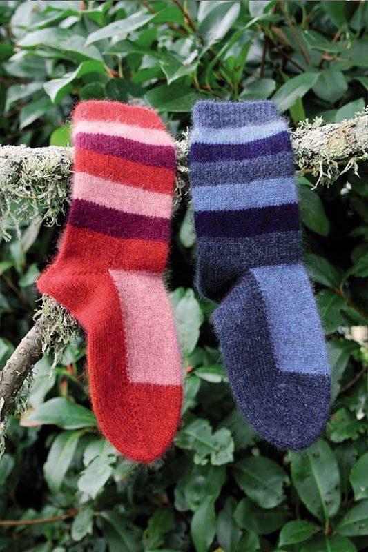Possum Merino Child's CK616 Striped Sock