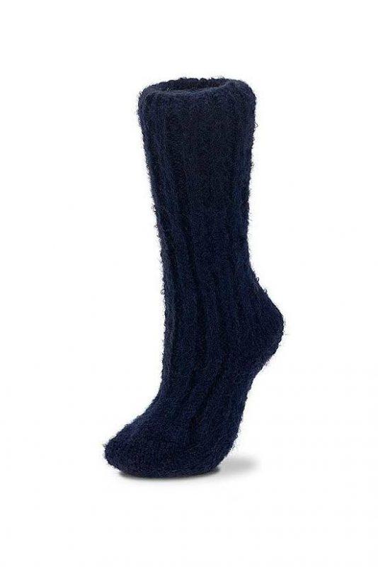 Mohair Socks Navy