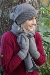 Possum Merino Beanie Z023 Spiro with Rabbit Fur Pom Pom