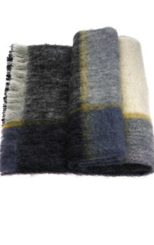 Mohair Plaid Throw Artic