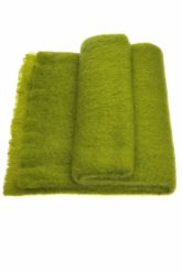 Mohair Throw Single Pesto