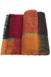 Mohair Plaid Throw Picasso