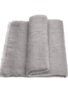 Mohair Throw Single Silver