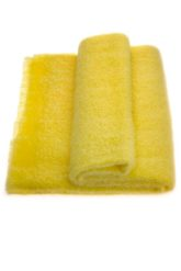 Mohair Throw Single Soft Lemon