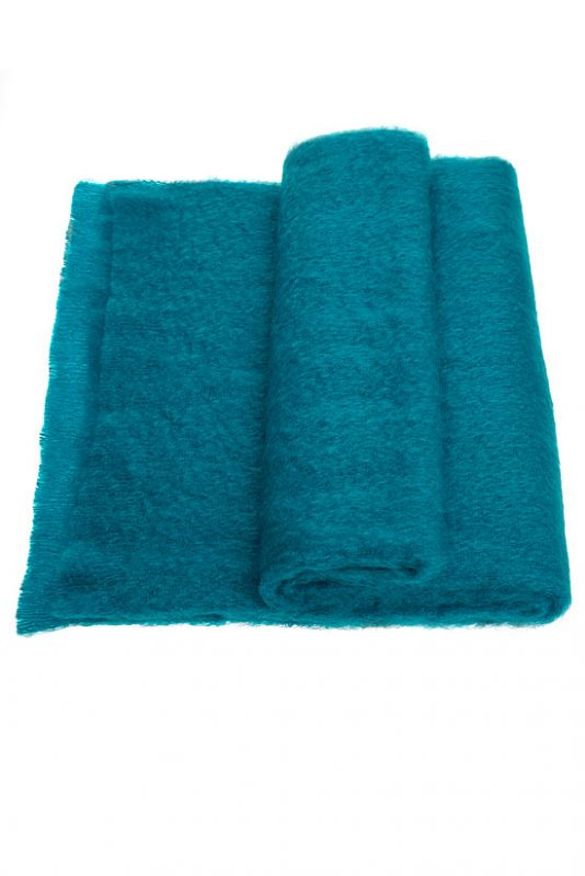 Mohair Throw Single Turquoise