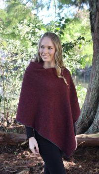 9989_Nest_Poncho_Charcoal_ Red