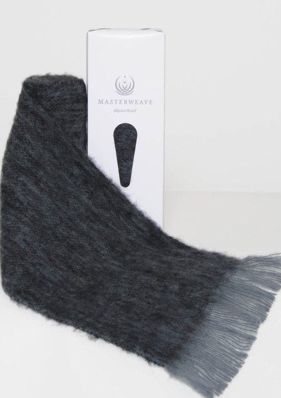 Alpaca Grey Black Marl Scarf